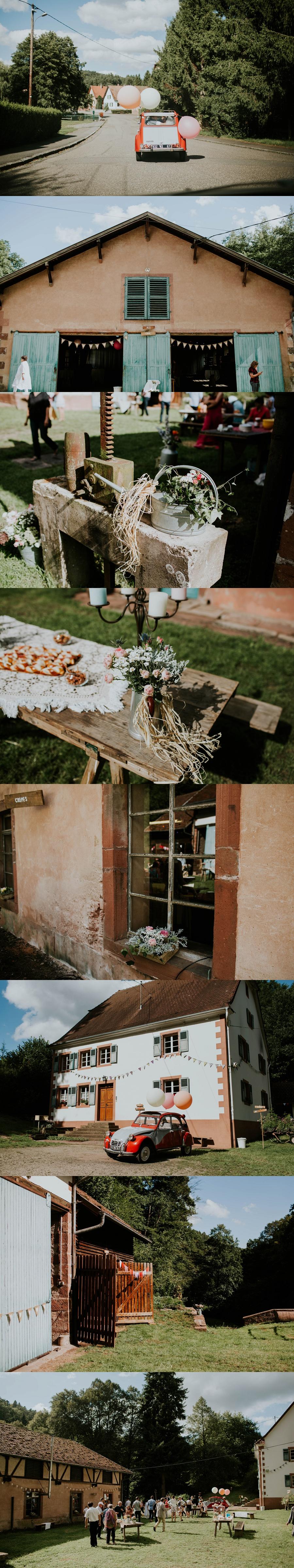 Mariage champêtre Alsace