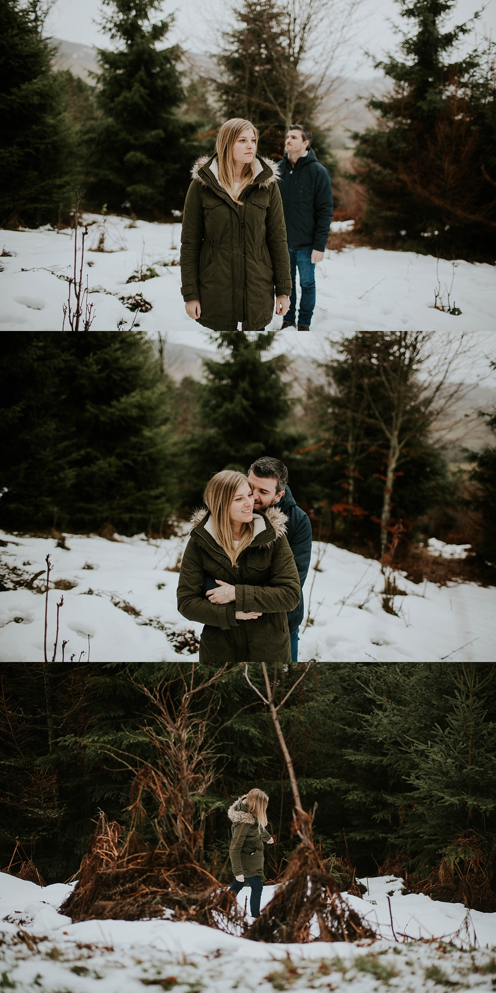 Séance engagement hivernale Photographe Mariage Strasbourg Alsace