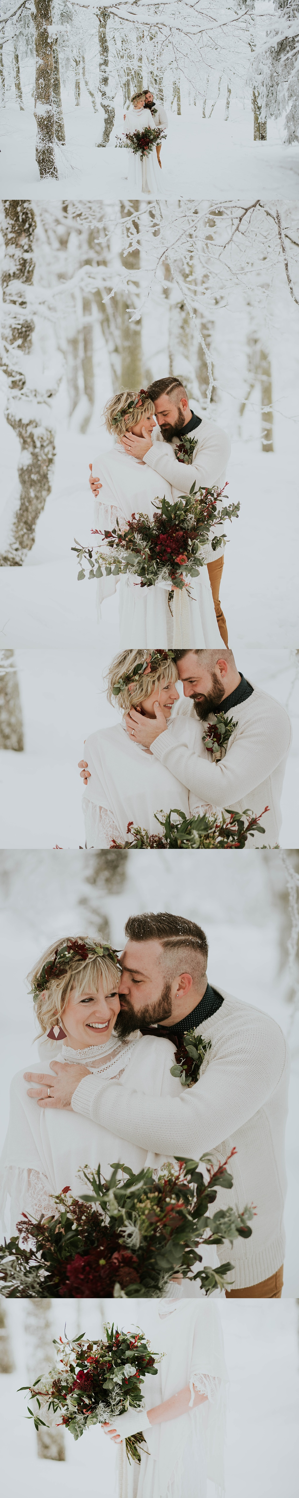 Mariage dans la neige Alsace Vosges