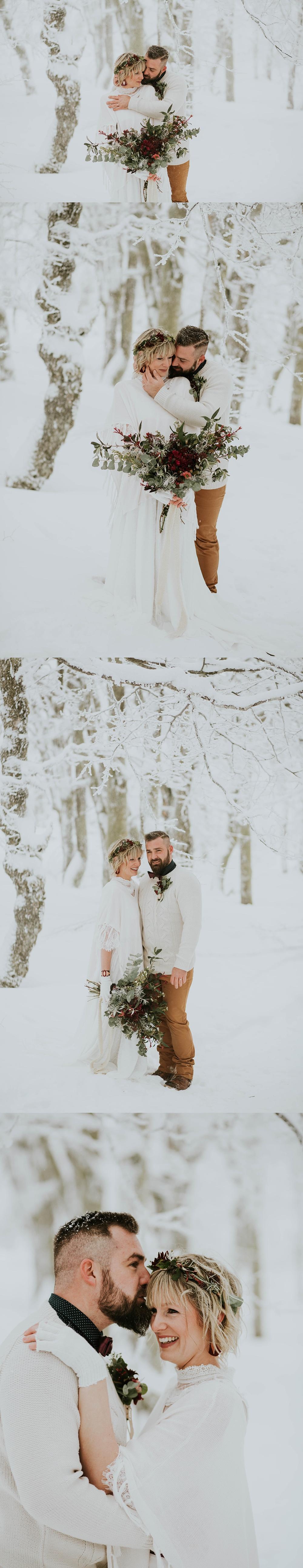 Mariage dans la neige Vosges