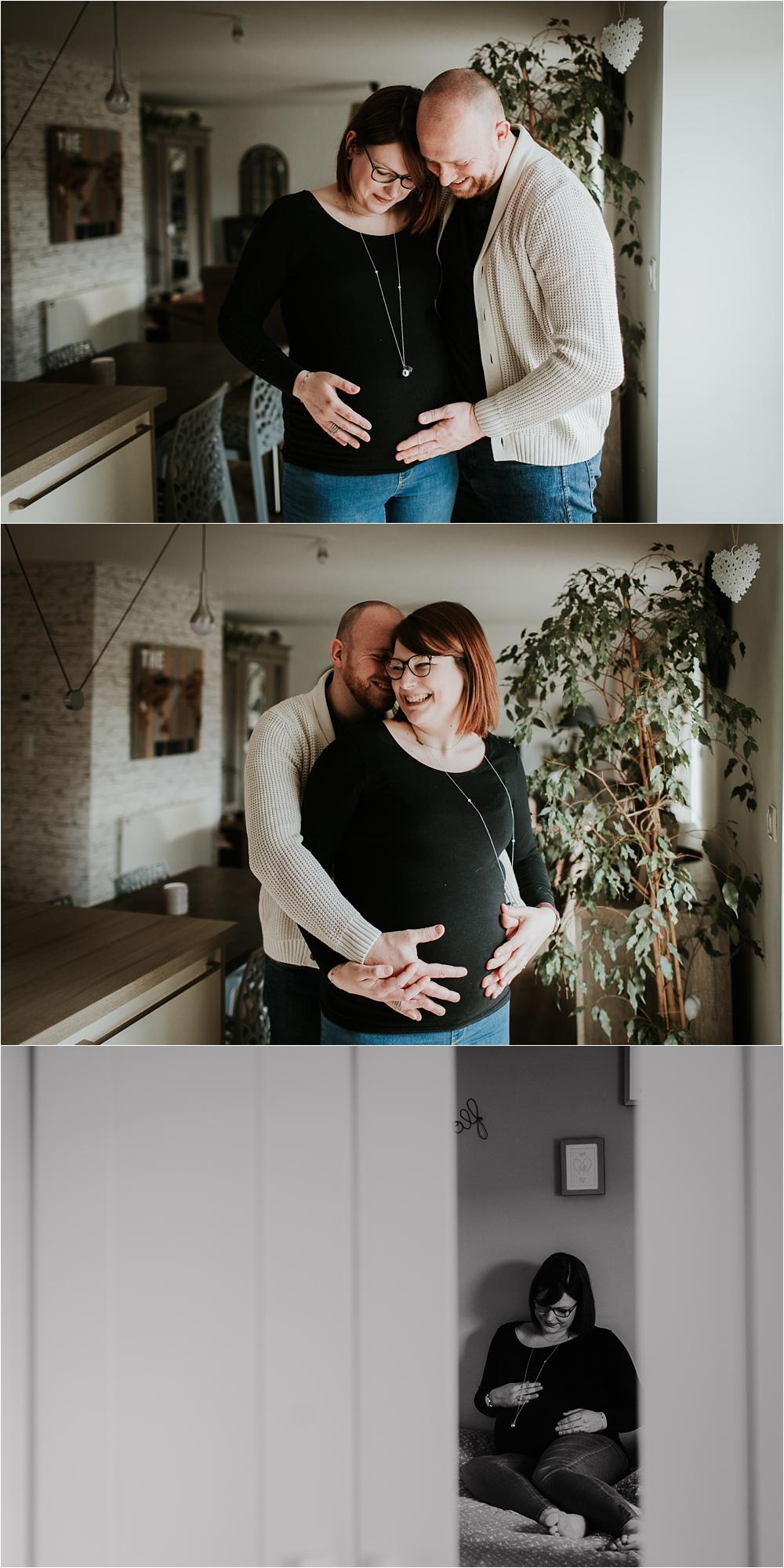 Séance photo grossesse à domicile Alsace